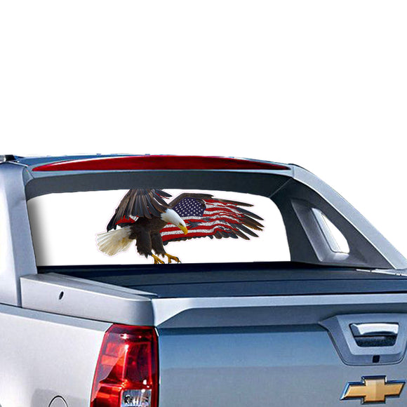 Eagle 2 Perforated for Chevrolet Avalanche decal 2015 - Present