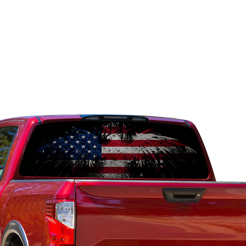 USA Eagle 2 Perforated for Nissan Titan decal 2012 - Present