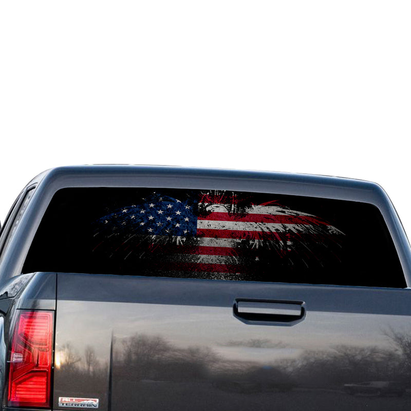 Eagle USA Perforated for GMC Sierra decal 2014 - Present