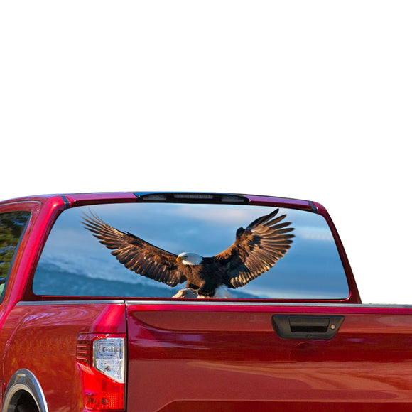 Flying Eagle Perforated for Nissan Titan decal 2012 - Present