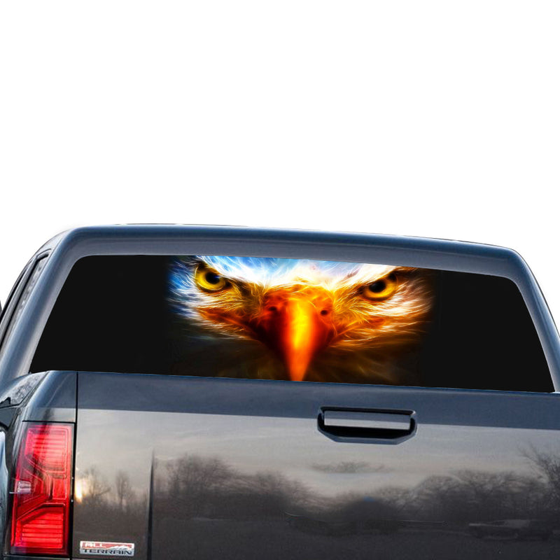 Eagle Eyes  Perforated for GMC Sierra decal 2014 - Present