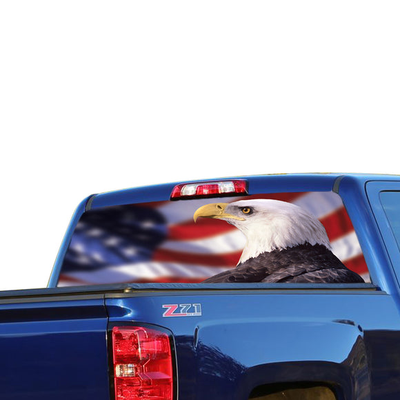 USA Eagle 4 Perforated for Chevrolet Silverado decal 2015 - Present