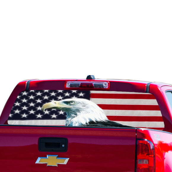 USA Eagle 2 Perforated for Chevrolet Colorado decal 2015 - Present