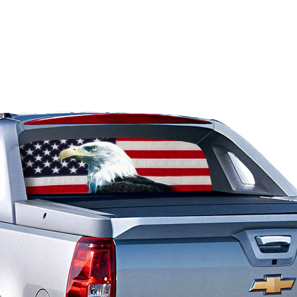 USA Eagle Perforated for Chevrolet Avalanche decal 2015 - Present