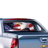 USA Eagle 1 Perforated for Chevrolet Avalanche decal 2015 - Present