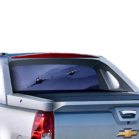 F-16 Perforated for Chevrolet Avalanche decal 2015 - Present