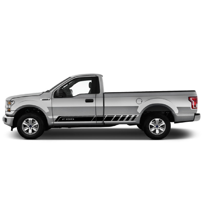 Decal Stripes F150 2 Door XL 8 Foot Bed 2019