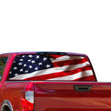 Flag USA Perforated for Nissan Titan decal 2012 - Present