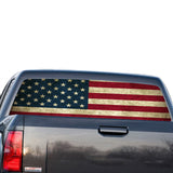 USA Flag Perforated for GMC Sierra decal 2014 - Present