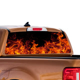 Flames Perforated for Ford Ranger decal 2010 - Present