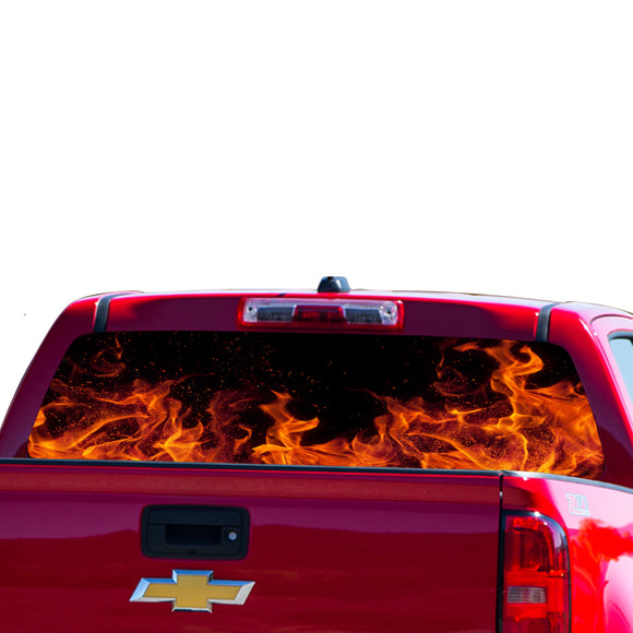 Flames Perforated for Chevrolet Colorado decal 2015 - Present