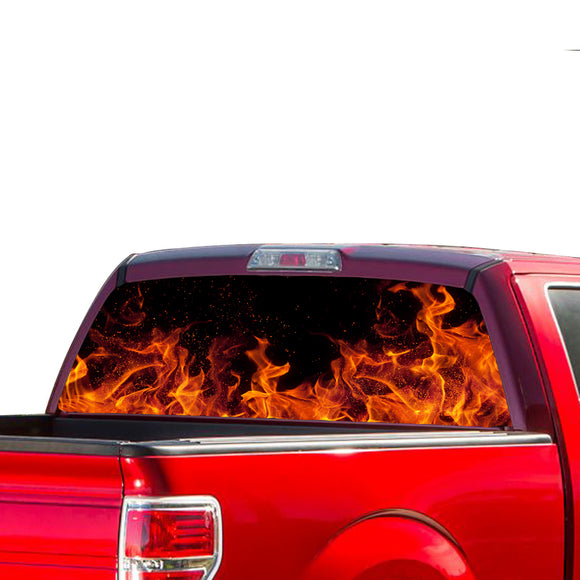 Flames Perforated for Ford F150 Decal 2015 - Present
