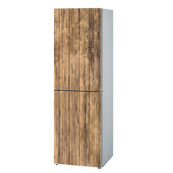 Fridge decals vinyl Wood Design Refrigerator Decals, Refrigerator Wrap