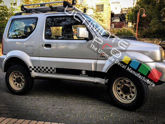 Decal Sticker Vinyl Side Stripes Compatible with Suzuki Jimny