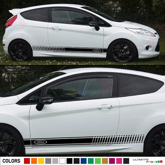 Decal Sticker Stripes For Ford Fiesta RS ST Body Trim