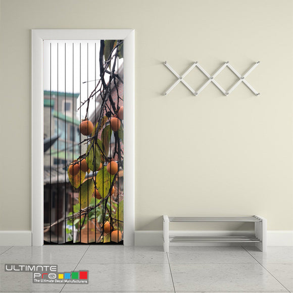 Door ideas Curtain tree Curtain printed