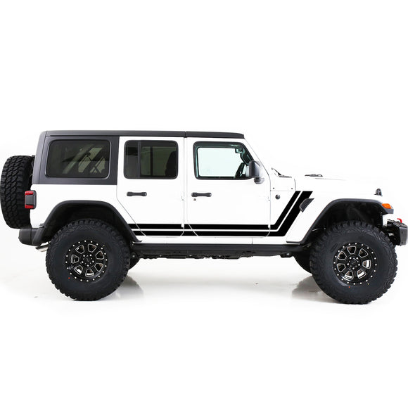 jk jl wrangler stickers decals side door retro stripes 2012 - 2018