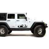 Decal mountain Compatible with Jeep Wrangler 2019-Present