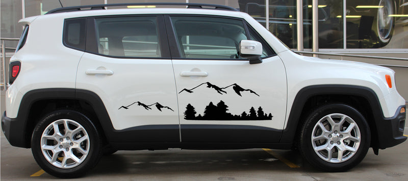 Mountains Decal sticker Compatible with Jeep Renegade