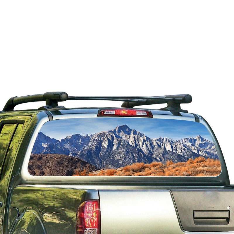 Mountains Perforated for Nissan Frontier decal 2004 - Present