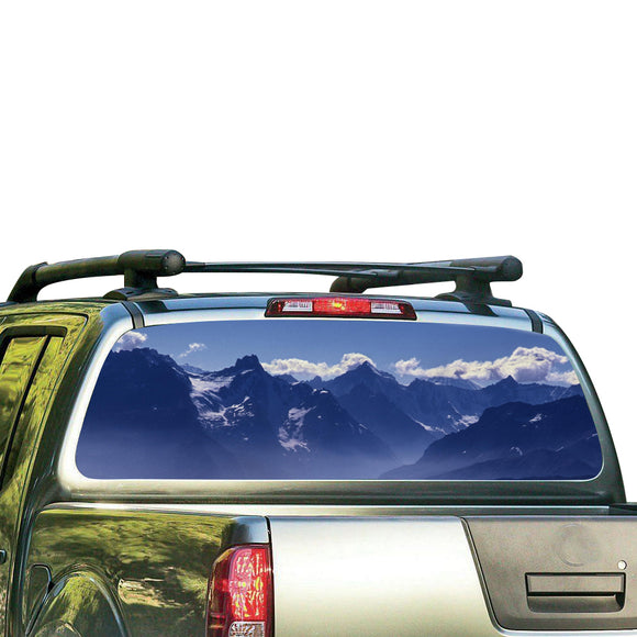 Mountains 2 Perforated for Nissan Frontier decal 2004 - Present