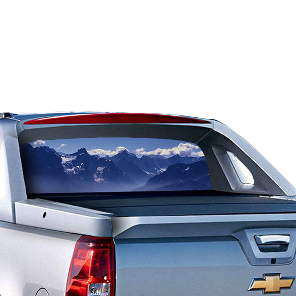Mountain 1 Perforated for Chevrolet Avalanche decal 2015 - Present