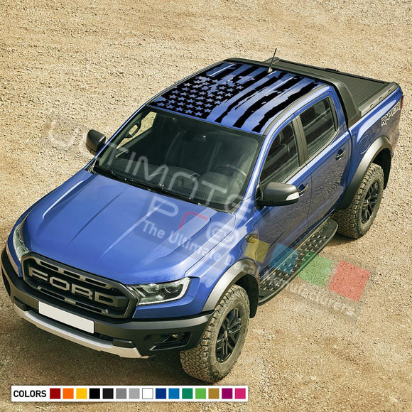 Decal Roof USA for Ford Ranger Double Cab 2011 - Present