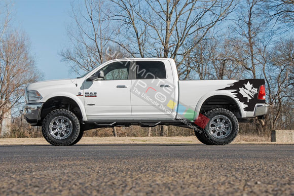 Side Bed Graphic Decal Canada Flag Dodge Ram 2009 - Present