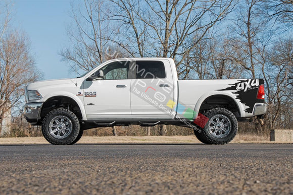 Off-Road Bed 4x4 Decal Graphic Vinyl For Dodge Ram 2009 - Present