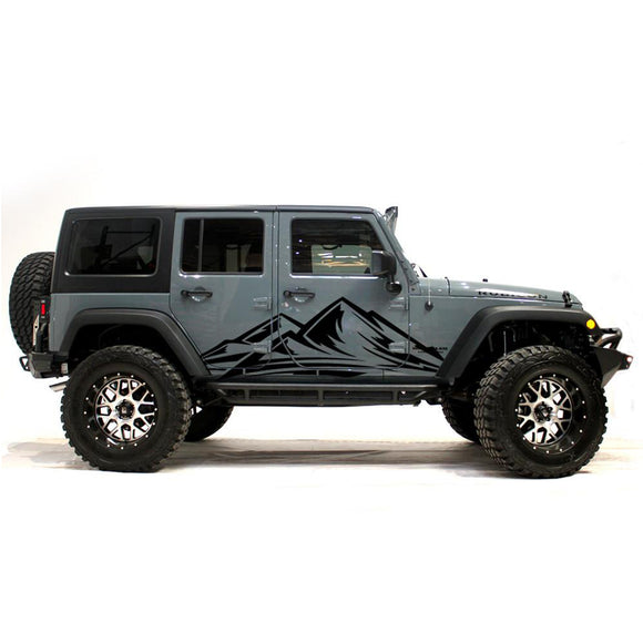 jl jk wrangler decals mountains side sticker 2018 - Present