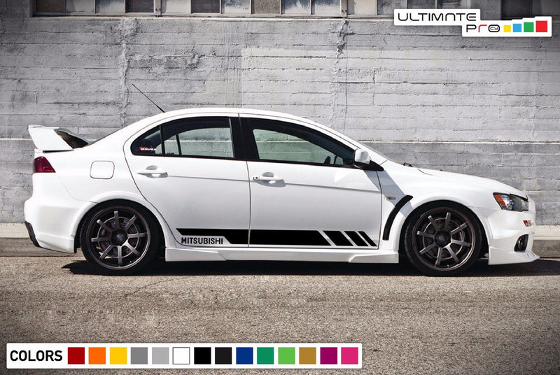 Sport Decal Sticker Vinyl Side Racing Stripes with Mitsubishi Lancer