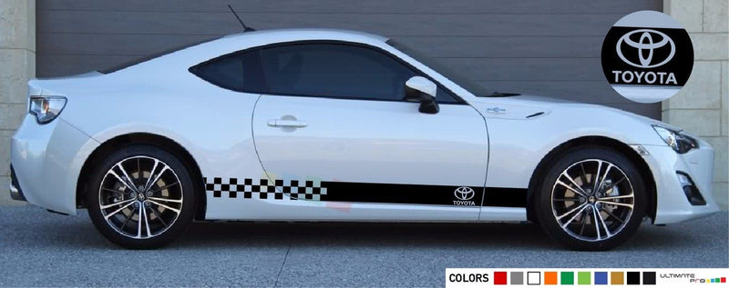 Sticker Vinyl Side Racing Stripes Compatible with Toyota GT86 FT86