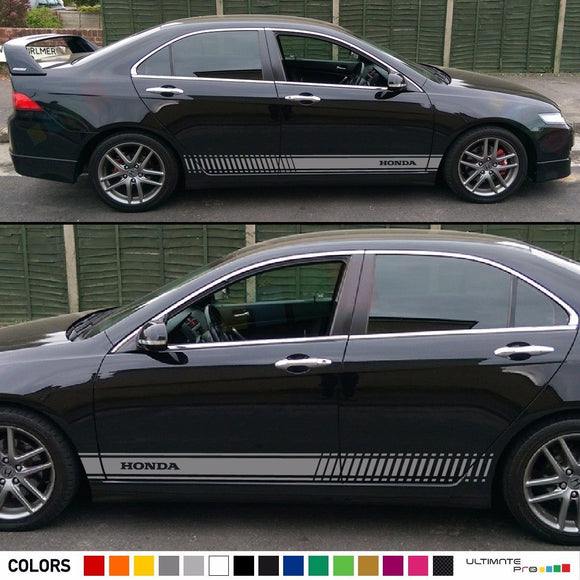 Racing Decal Sticker Vinyl Side Stripe Kit Honda Accord 2013-2017