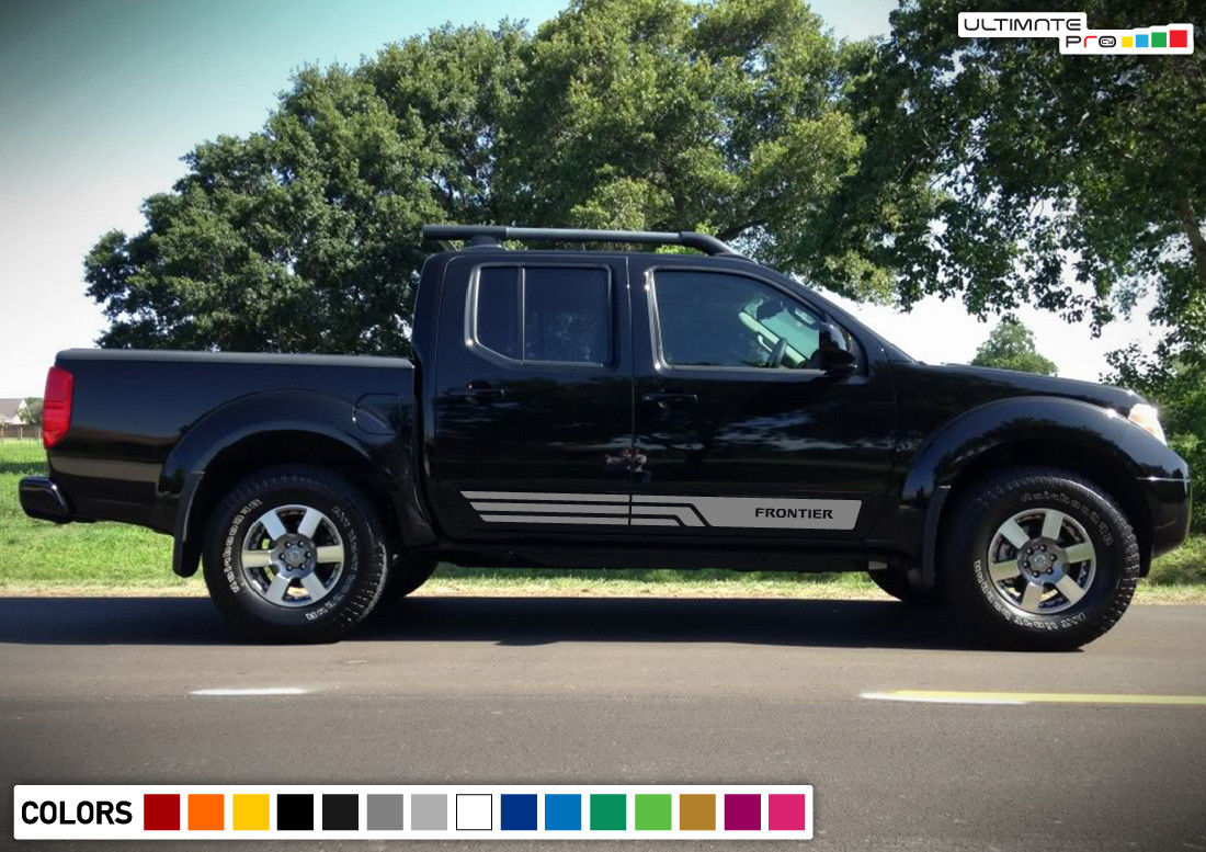 Stripes vinyl sticker graphic compatible with nissan frontier navara