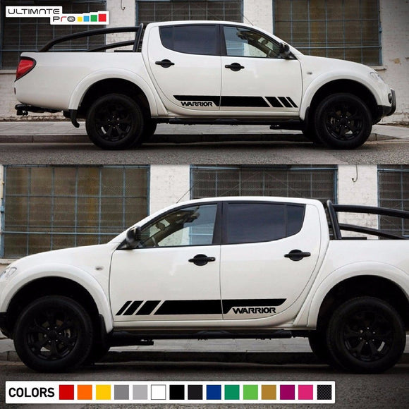 Sticker Side Stripes Mitsubishi L200 2005-2017 Warrior Barbarian