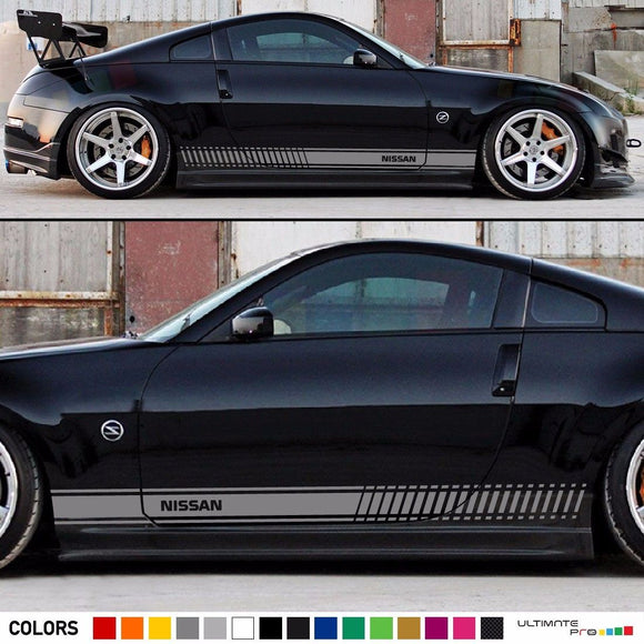 Sticker Vinyl Side Racing Stripes Compatible with Nissan 350 Z Fairlady Z 2002-2009