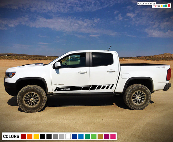 Sticker Vinyl Mountain Stripe Kit Compatible with Chevrolet Colorado