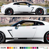 Decal Sticker Vinyl Side Racing Stripes Compatible with Nissan GT-R R35 2007-Present