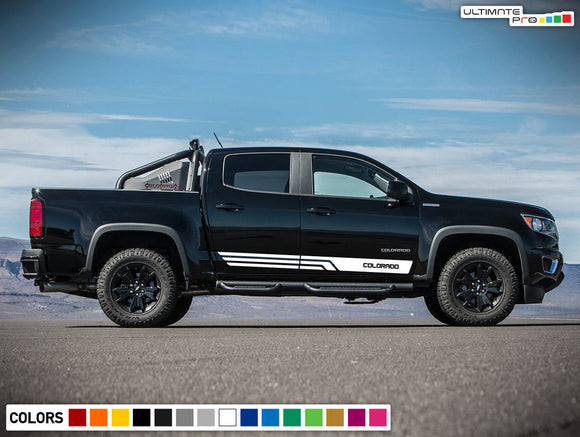 Sticker Vinyl Side Stripe Kit Chevrolet Colorado 2012-2017