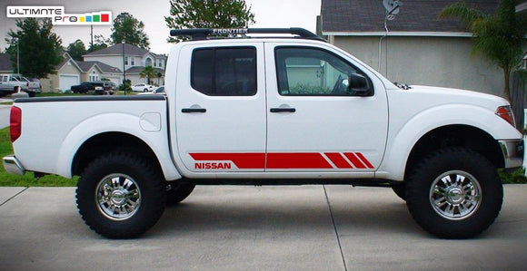 Racing Sticker Decal stripe kit Compatible with Nissan Navara 2008-Present