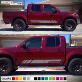 Side Stripes Vinyl Sticker Graphic Compatible with Nissan Frontier Navara 2004-Present