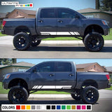 2X Decal Sticker Side Stripe Kit Compatible With Nissan Titan 2003-2017