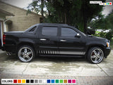 Sport Stripes Vinyl Sticker Compatible with Chevrolet Avalanche