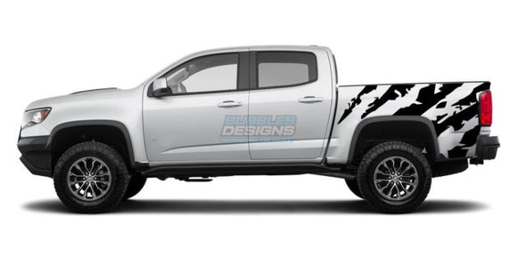 Scratches Bed Graphics vinyl design for Chevrolet Colorado decal