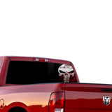 Punisher Perforated for Dodge Ram decal 2015 - Present