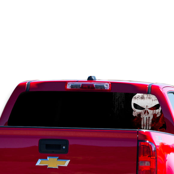 Skull Perforated for Chevrolet Colorado decal 2015 - Present