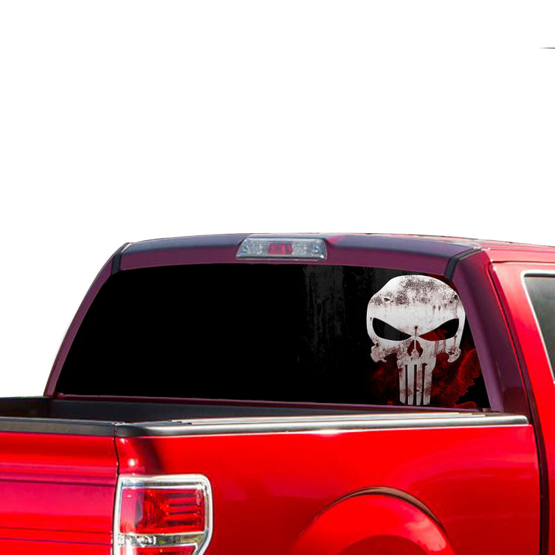 Punisher Perforated for Ford F150 Decal 2015 - Present