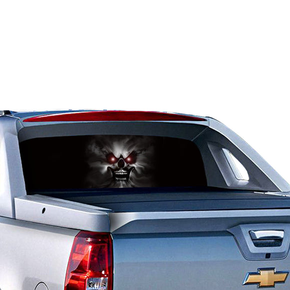 Skull Perforated for Chevrolet Avalanche decal 2015 - Present