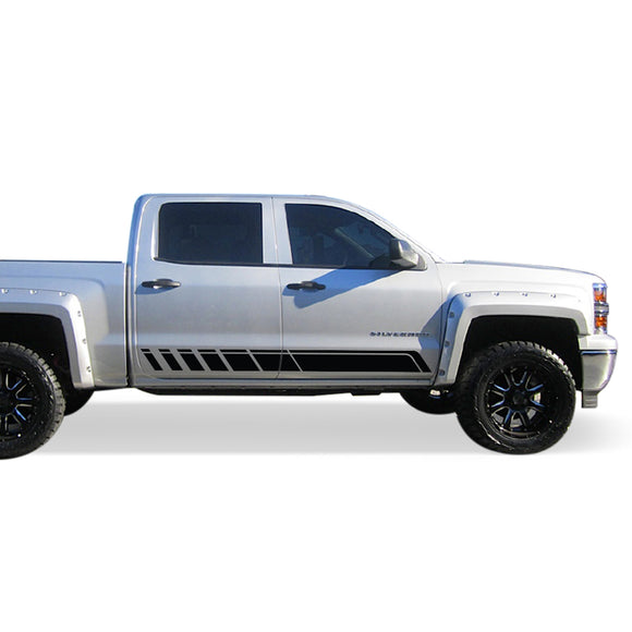 Side door Decal, vinyl design for Chevrolet Silverado decal 2015 - Present