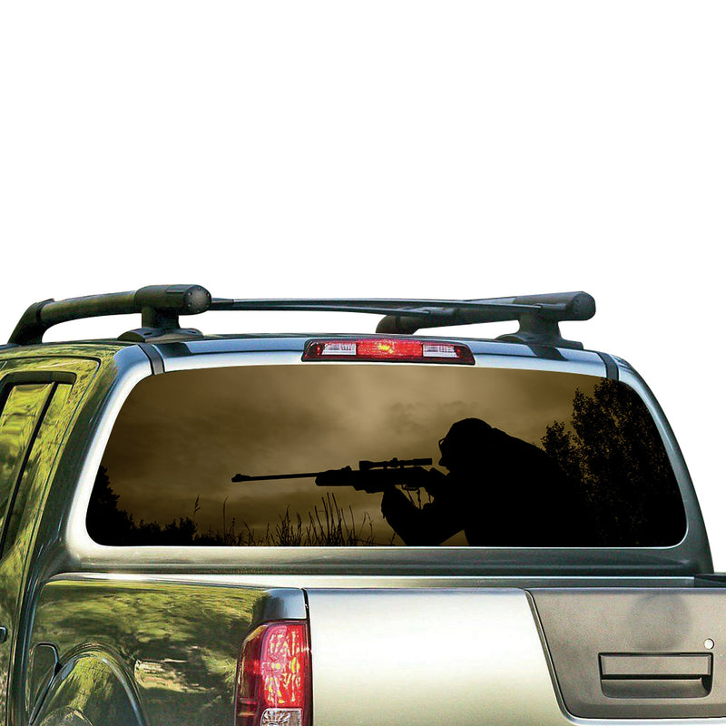 Sniper USA Perforated for Nissan Frontier decal 2004 - Present